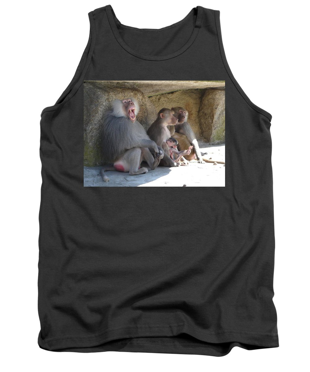 Animal Tank Top featuring the photograph I Am The King Here by Valerie Ornstein