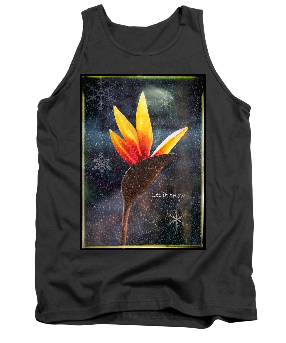 Christmas Tank Top featuring the photograph I Imagine by Louise Hill
