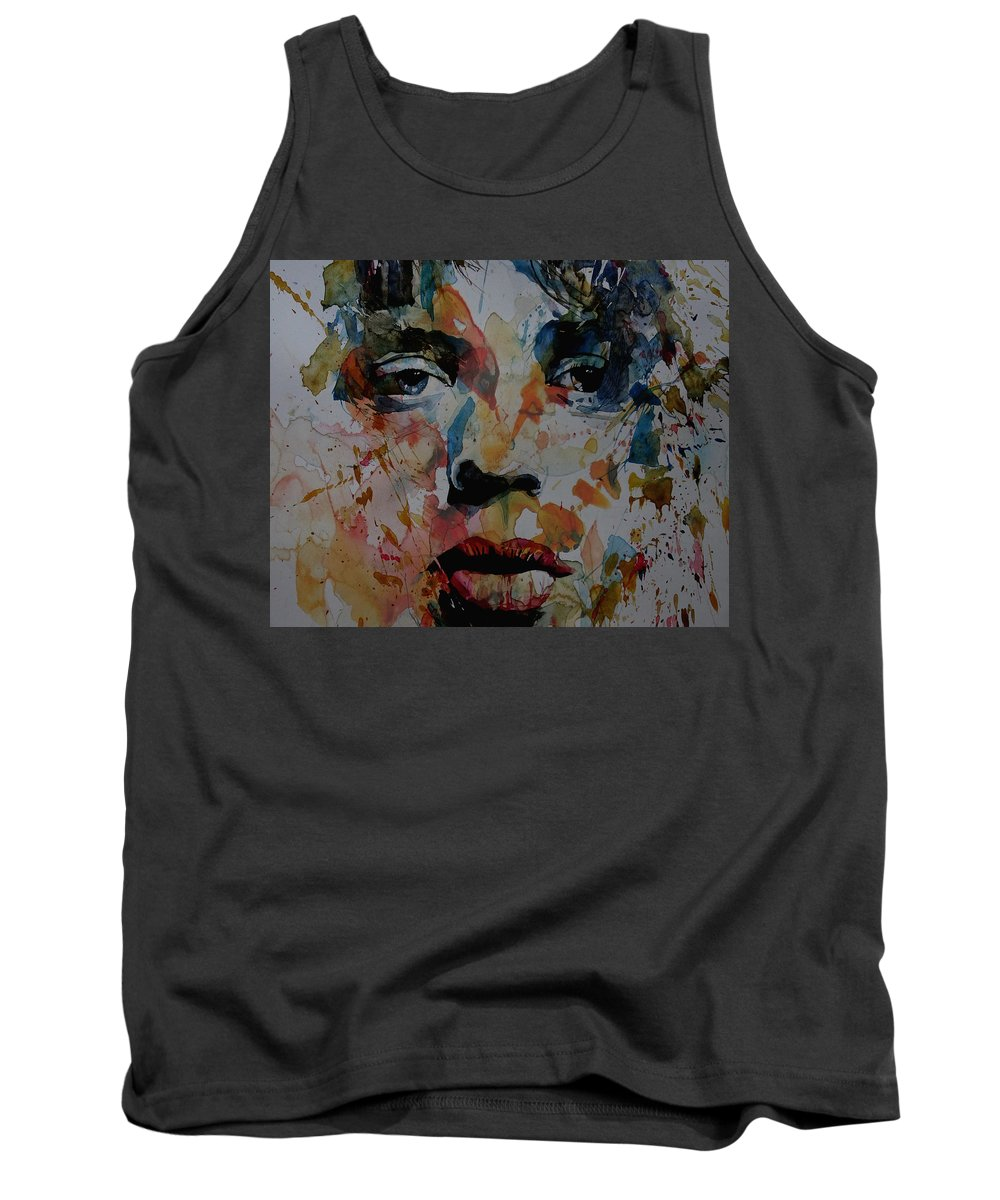 Mick Jagger Tank Top featuring the painting I Know It's Only Rock N Roll But I Like It by Paul Lovering
