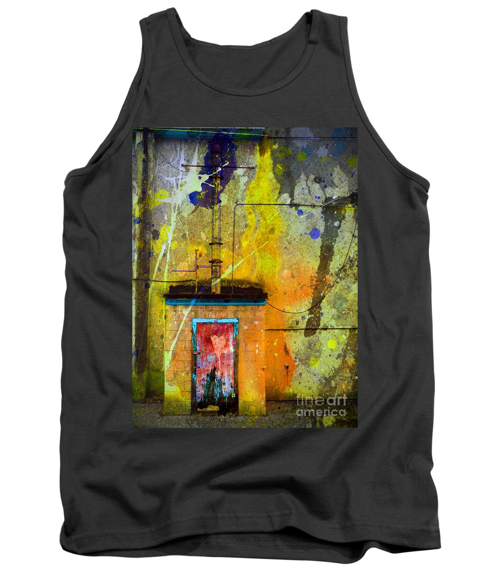 Door Tank Top featuring the photograph I Wear My Heart On The The Door by Tara Turner