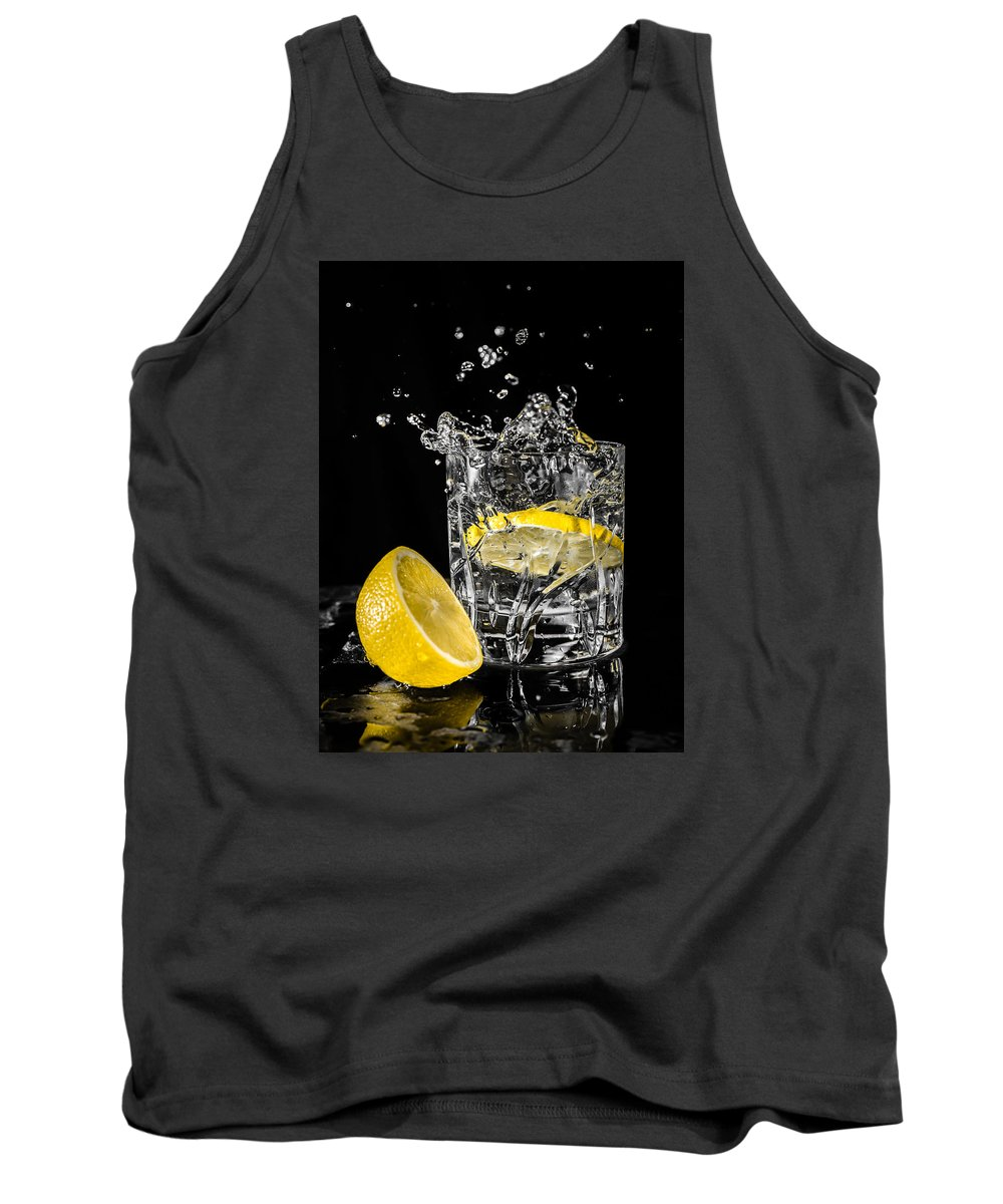 Drink Tank Top featuring the photograph Ice And A Slice by Nick Bywater