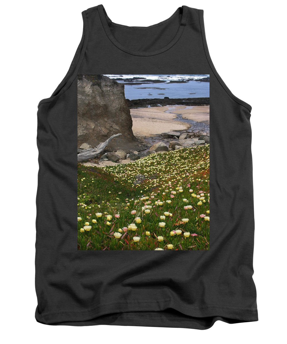 Landscape Tank Top featuring the photograph Ice Plants On Moss Beach by Karen W Meyer