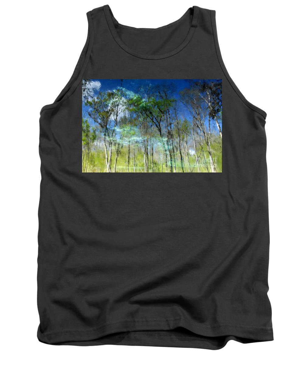 River Tank Top featuring the photograph Ichetucknee Reflections by David Lee Thompson