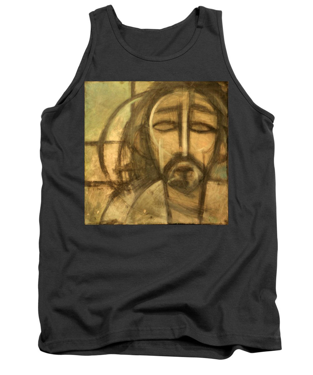 Christ Tank Top featuring the painting Icon Number 6 by Tim Nyberg