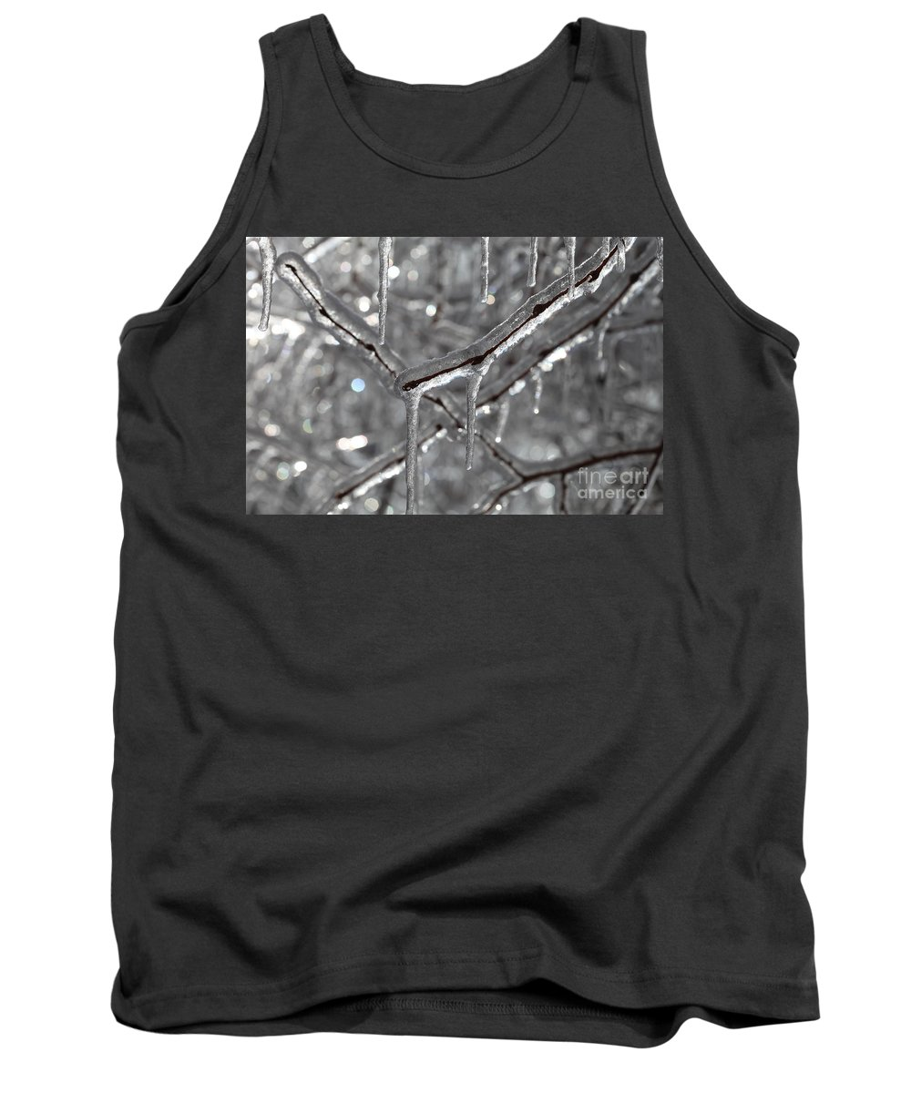 Ice Tank Top featuring the photograph Icy Glitters by Nadine Rippelmeyer