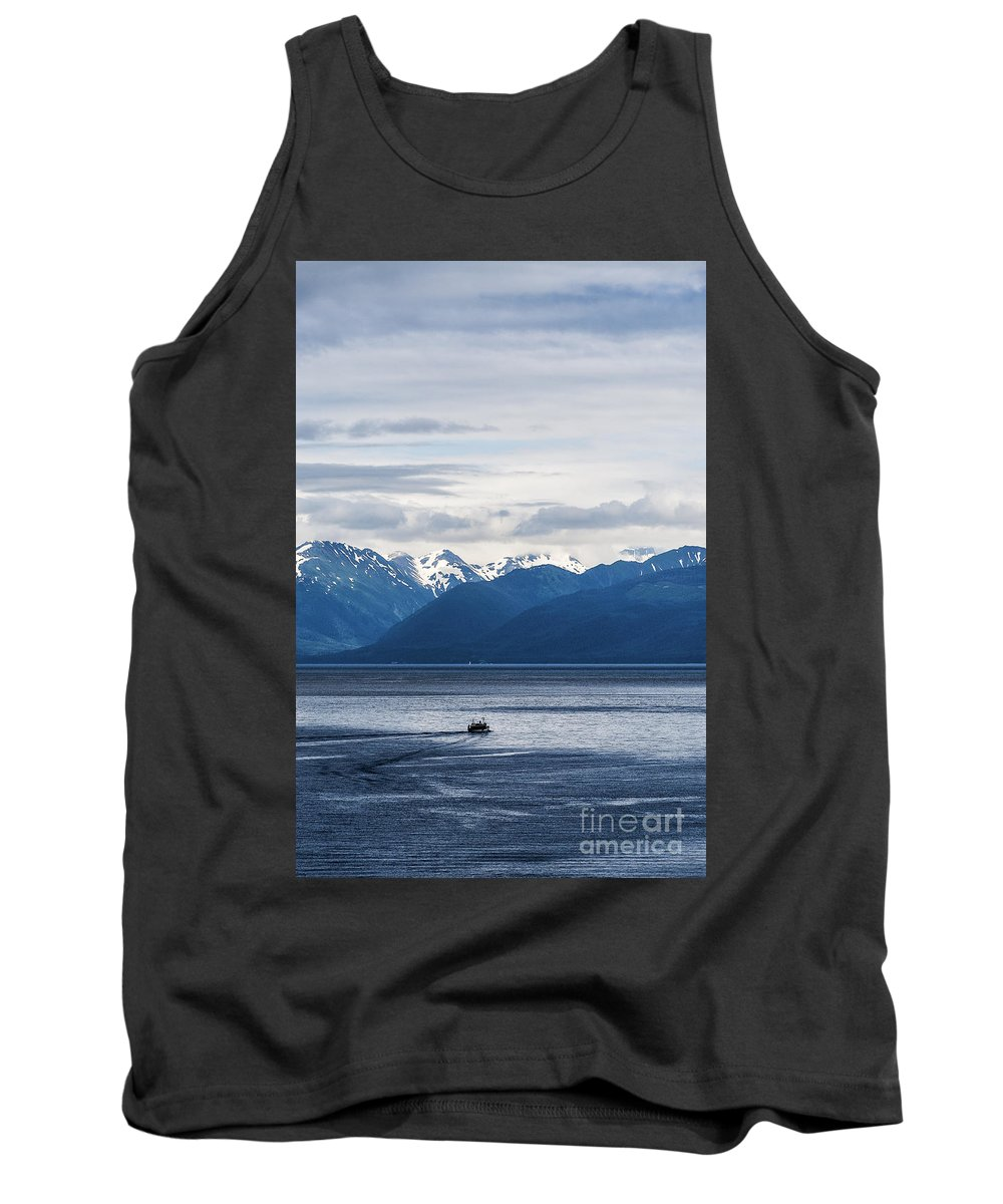 Alaska Tank Top featuring the photograph Icy Strait Fishing by John Greim