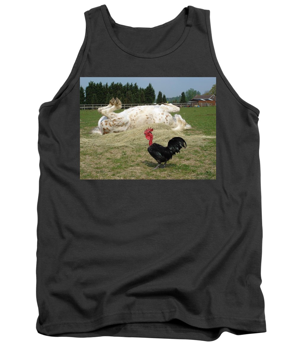Pony Tank Top featuring the photograph If Looks Could Kill by Susan Baker
