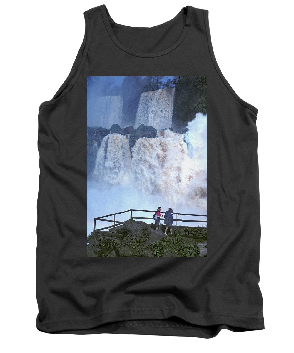 Waterfall Tank Top featuring the photograph Iguazu Falls, Brazil by Jerry Griffin