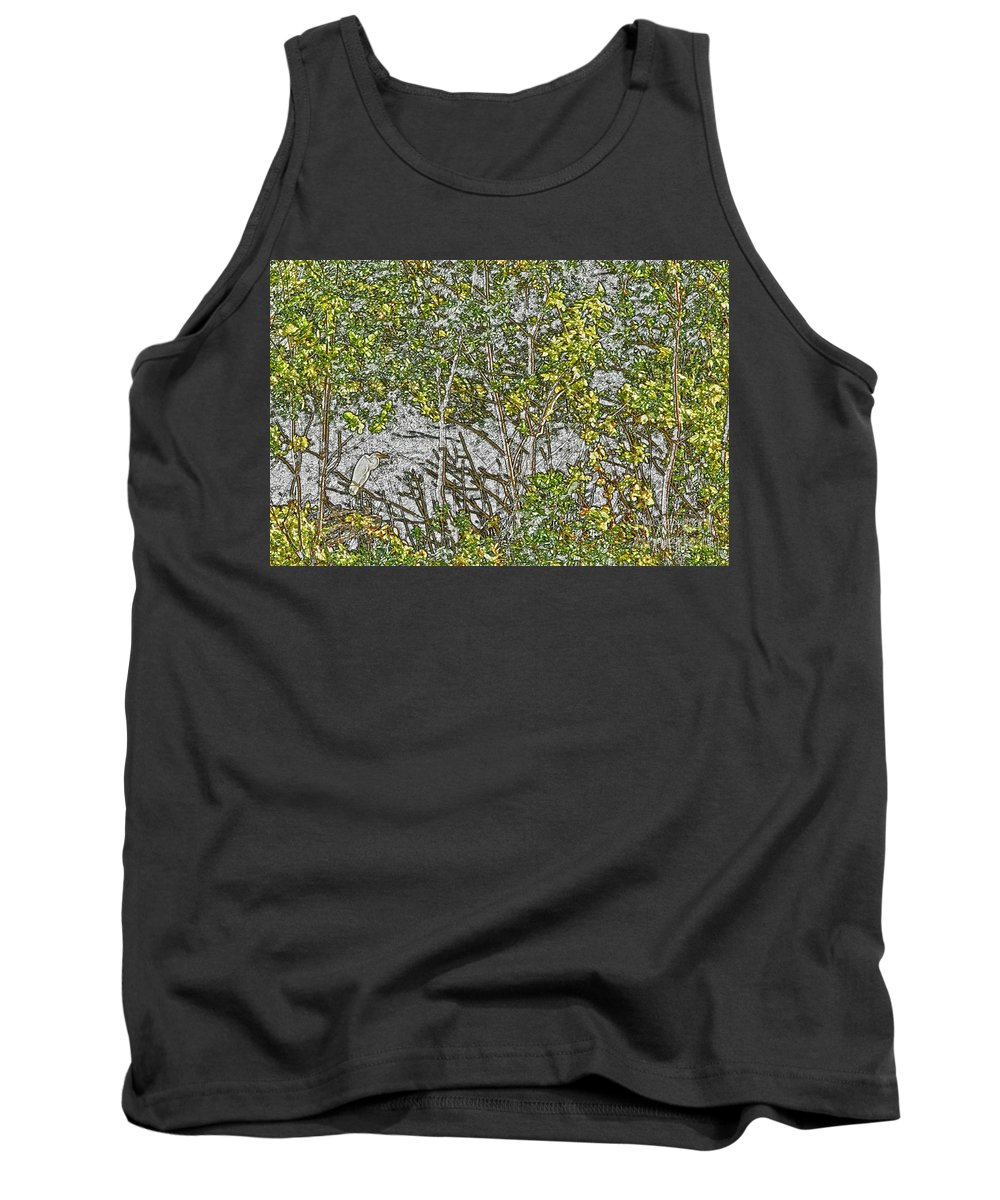 Alba Tank Top featuring the photograph I'm Not Here, You Don't See Me by Alan Look