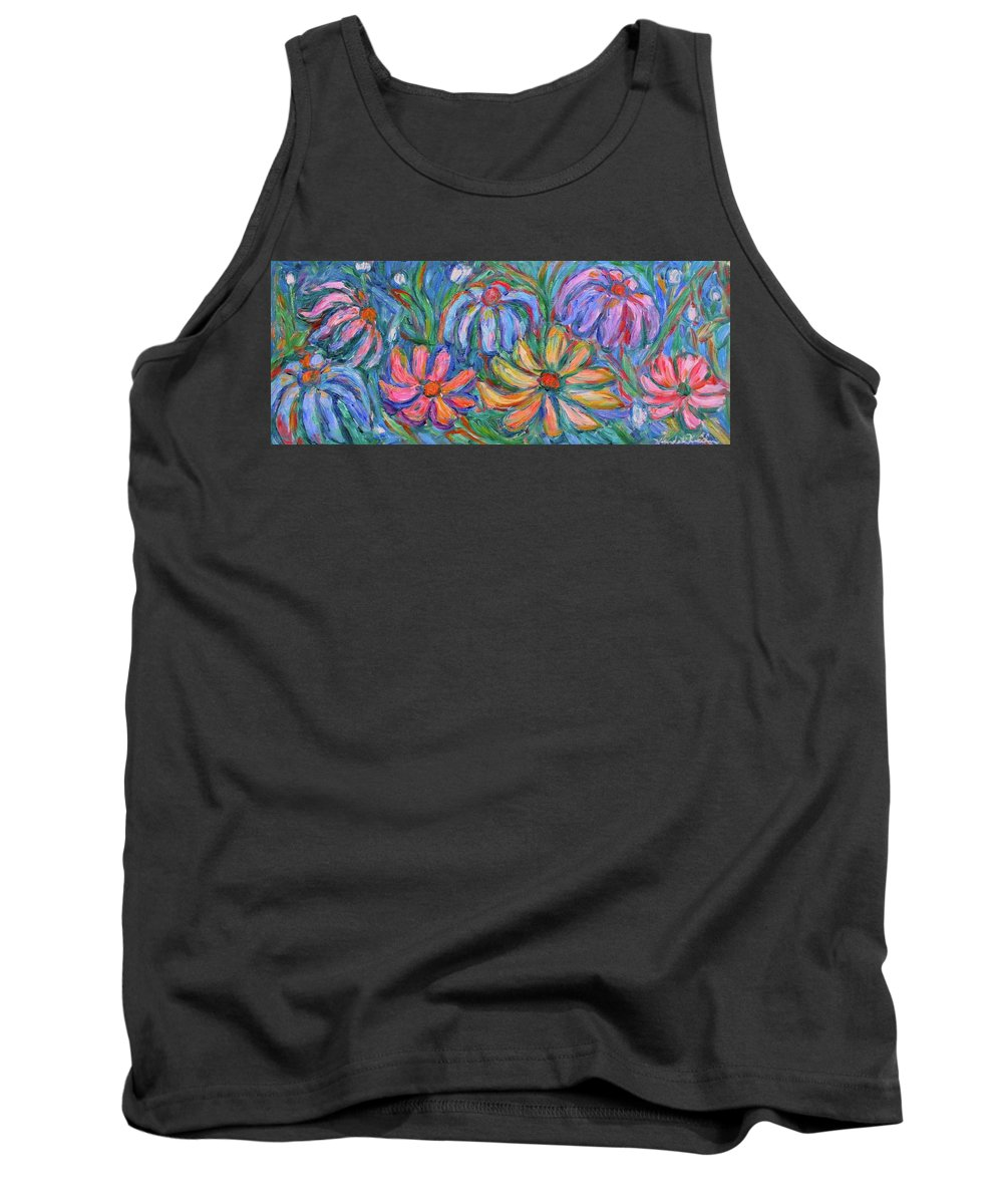 Flowers Tank Top featuring the painting Imaginary Flowers by Kendall Kessler