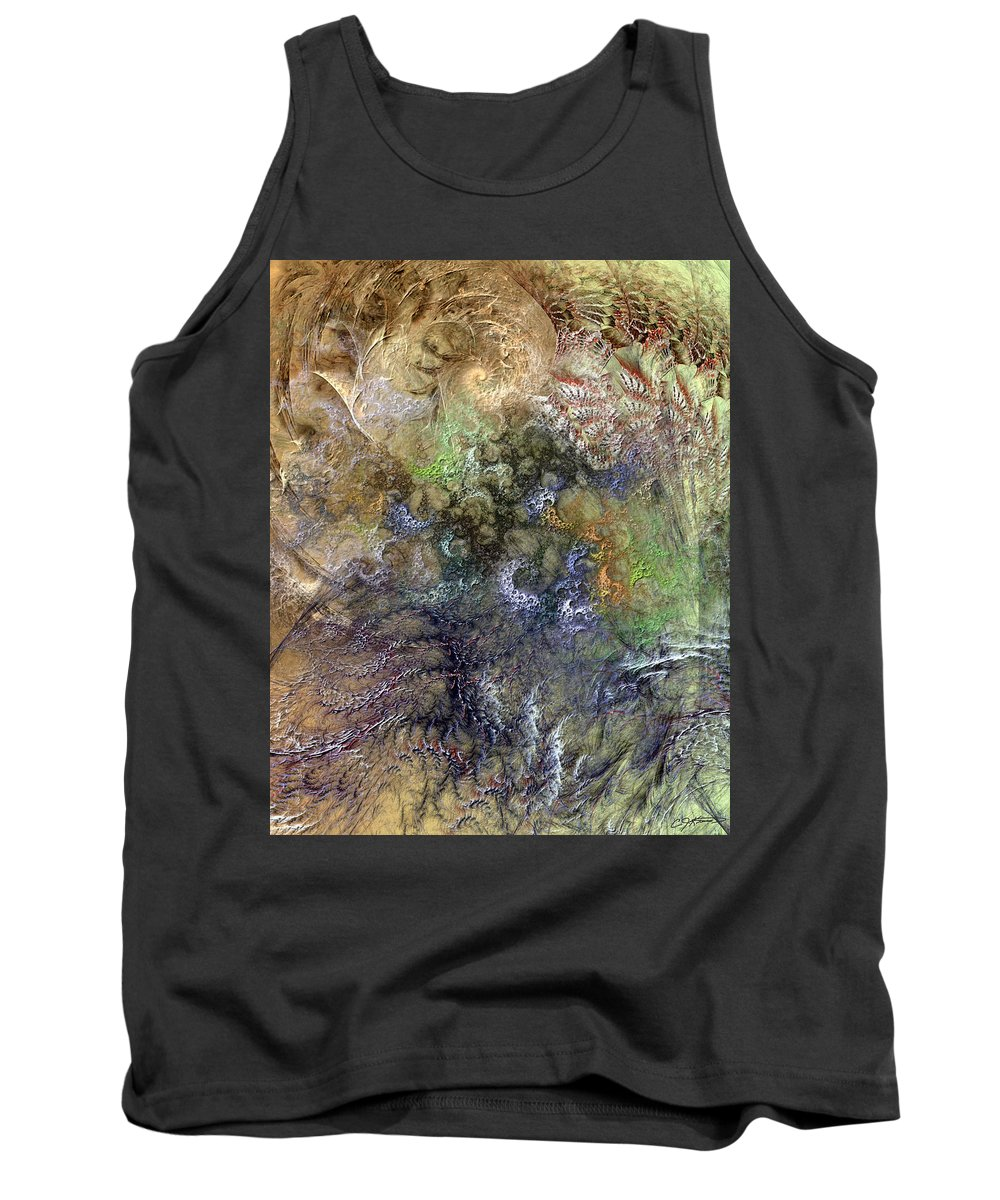 Abstract Tank Top featuring the digital art Imperialistic Miasma by Casey Kotas