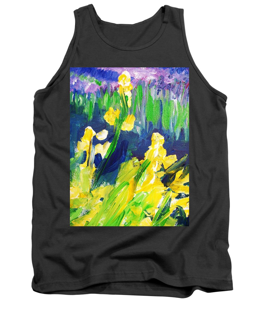 Impressionism Tank Top featuring the painting Impression Flowers by Eric Schiabor