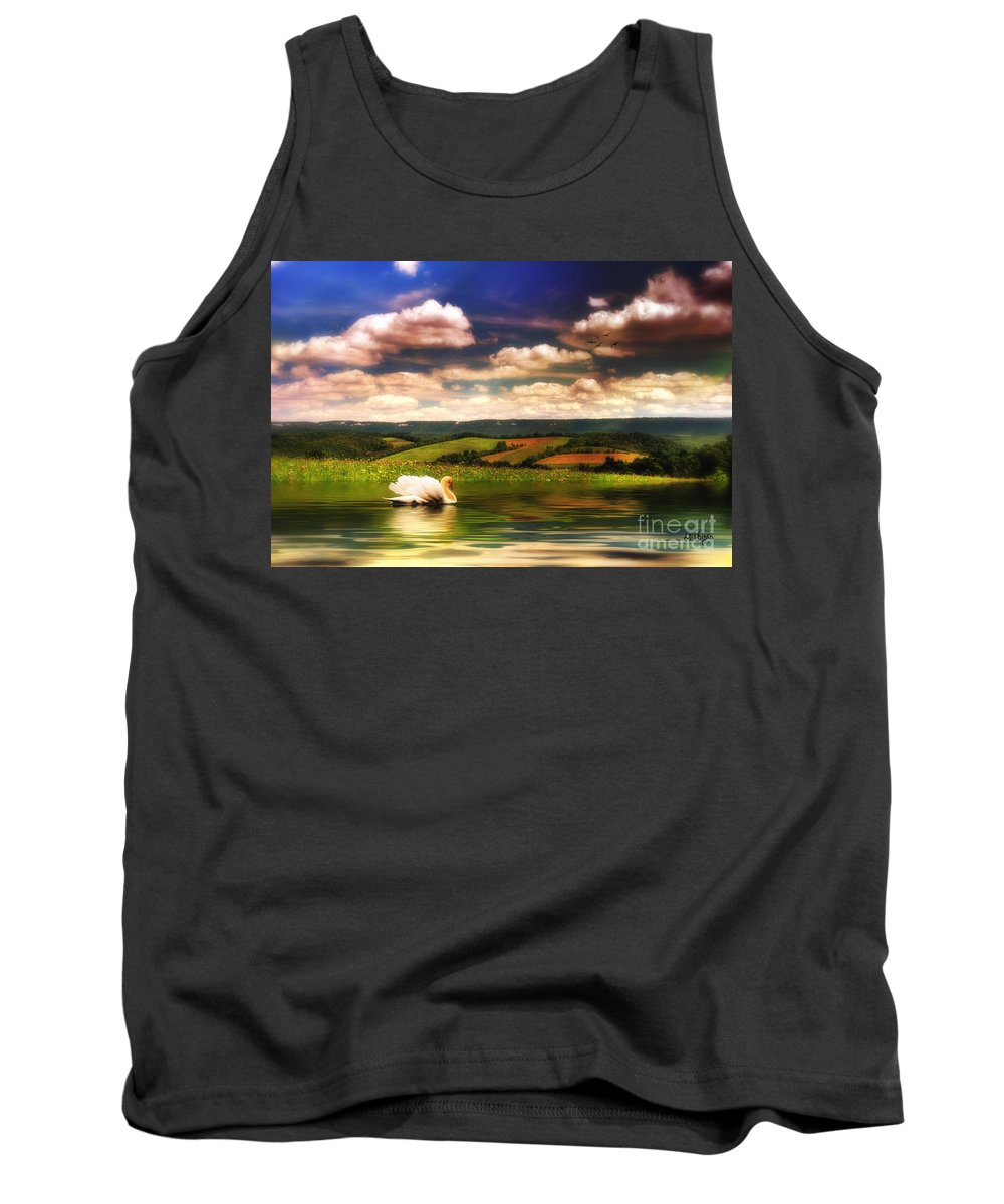 Nature Tank Top featuring the digital art In A Land Far Away by Lois Bryan