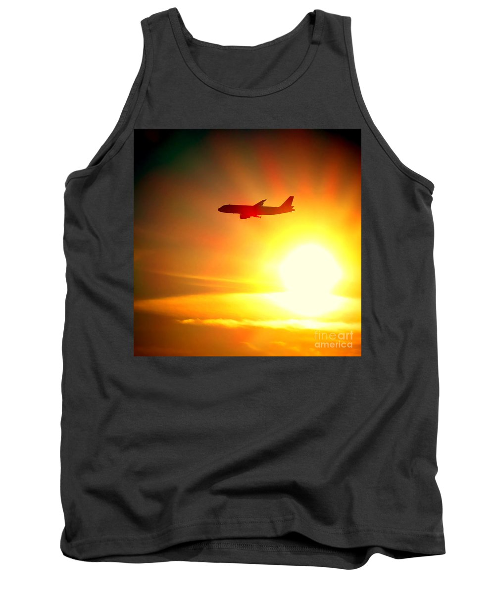 Boeing Tank Top featuring the photograph In Flight by Olivier Le Queinec