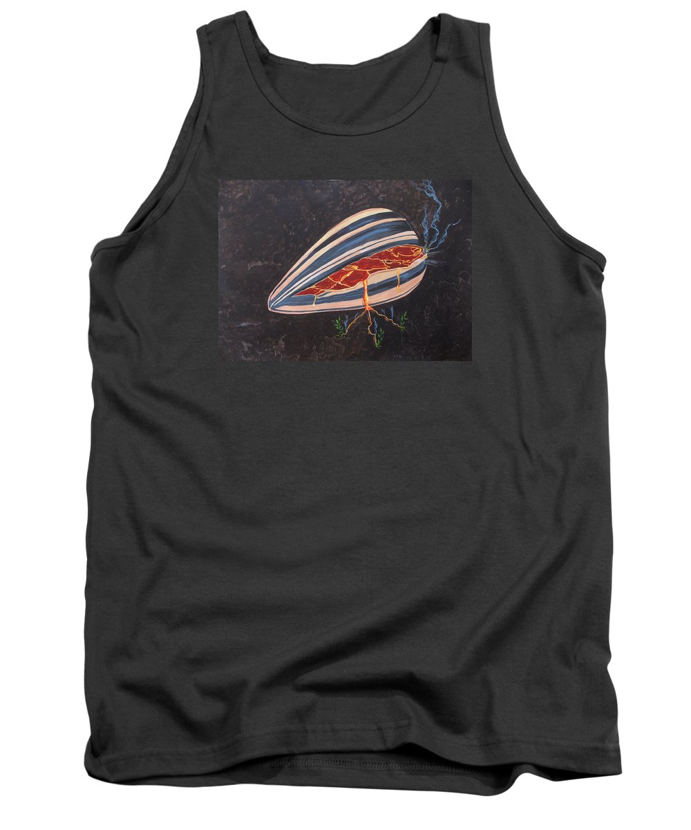 Surreal Tank Top featuring the painting In Seed by Lazaro Hurtado