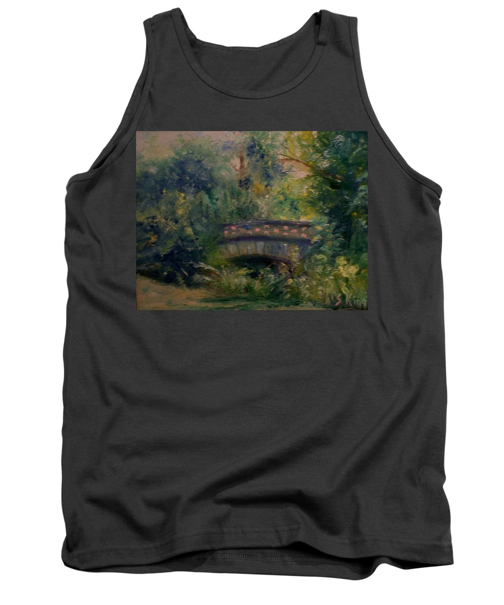 Landscape Tank Top featuring the painting In The Park by Stephen King