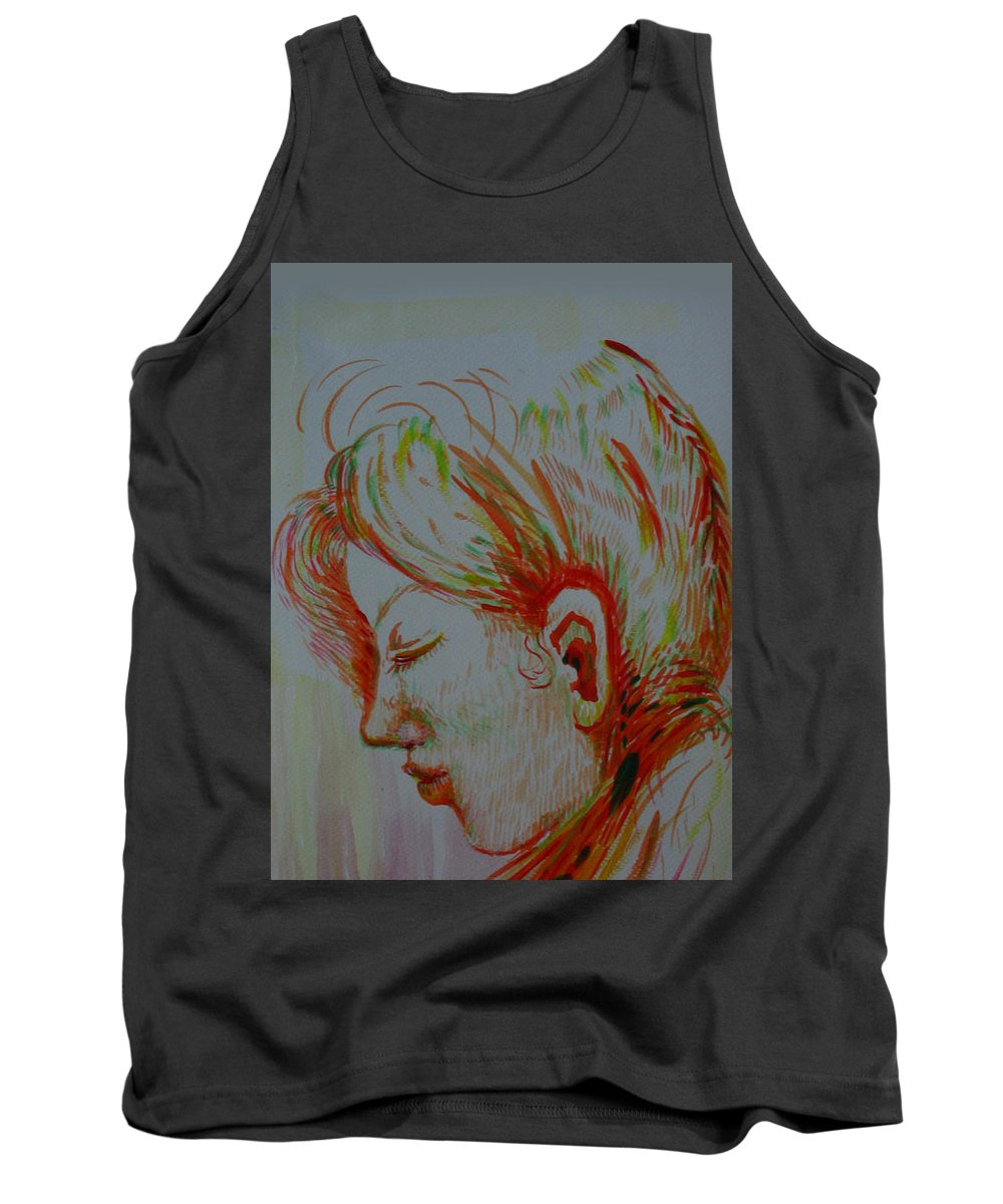 Acrylic Tank Top featuring the painting In The Room Of Peace by Sukalya Chearanantana