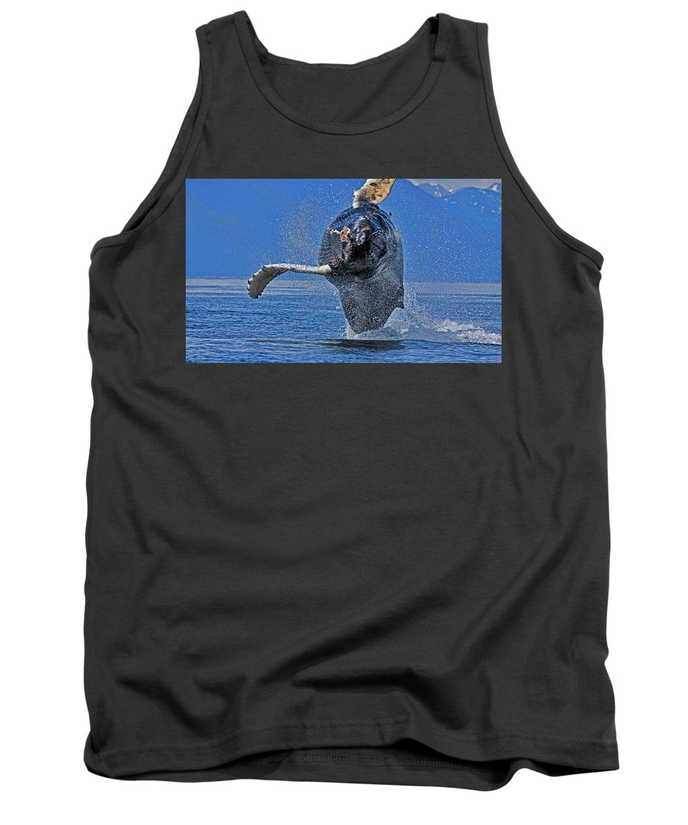 Whale Tank Top featuring the photograph Incoming by Danny Sullivan