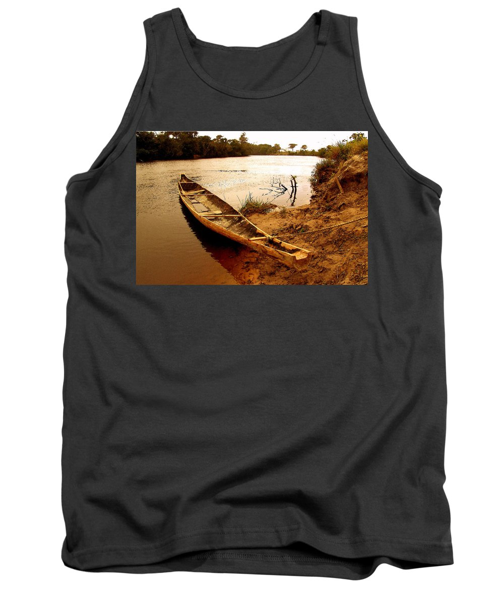 Indian Tank Top featuring the photograph Indian Boat by Galeria Trompiz
