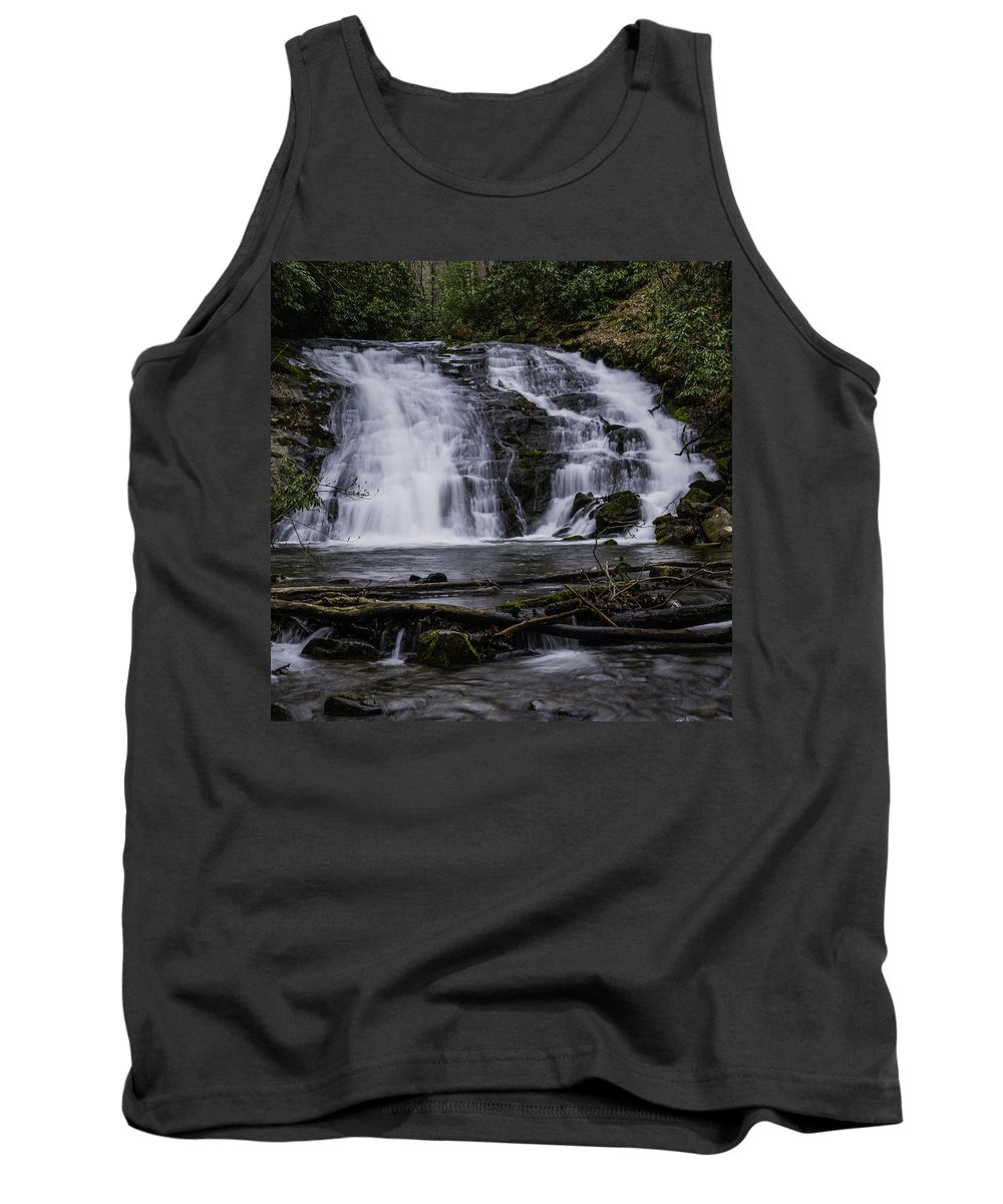 Columbia Gorge Tank Top featuring the photograph Indian Creek Falls 3 by Ingrid Smith-Johnsen