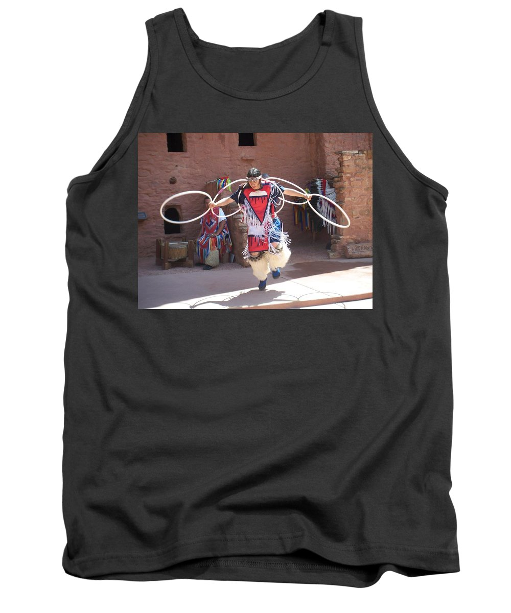 Indian Dancer Tank Top featuring the photograph Indian Hoop Dancer by Anita Burgermeister