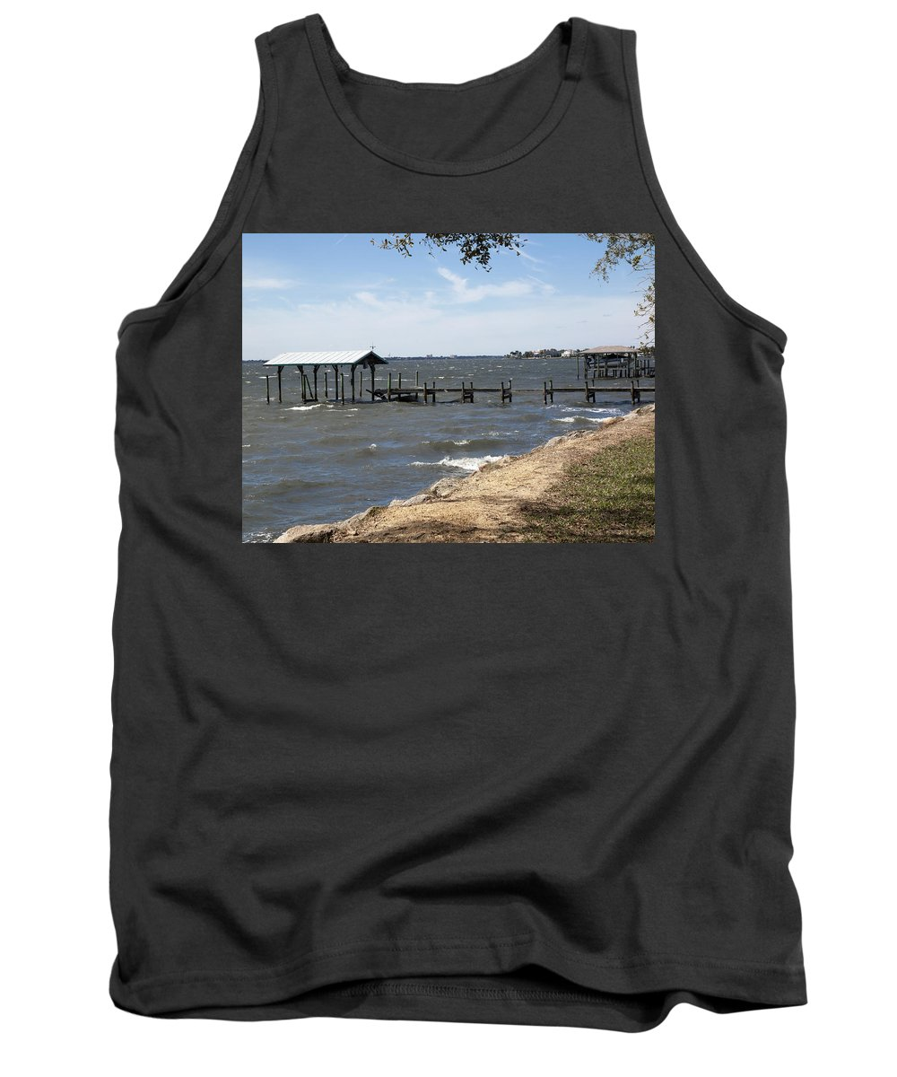 Florida Tank Top featuring the photograph Indian River Lagoon At Indialantic Florida by Allan Hughes