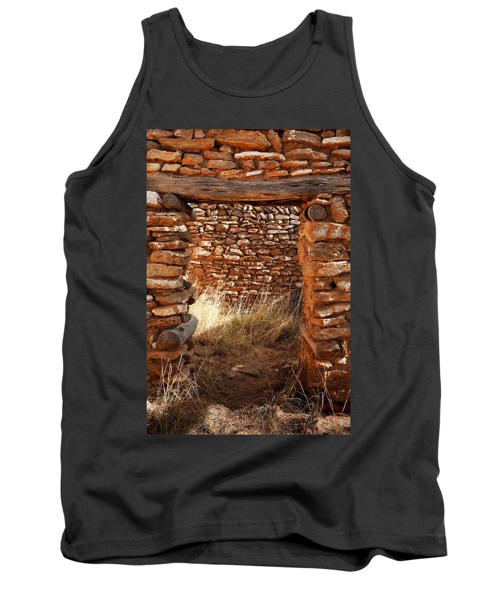 New Mexico Tank Top featuring the photograph Indian Ruins Doorway by Matt Suess