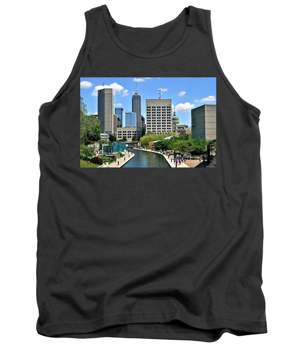 Indianapolis Tank Top featuring the photograph Indianapolis Canal by Frozen in Time Fine Art Photography