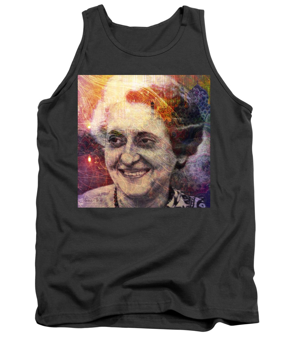indira Gandhi Tank Top featuring the digital art Indira by Barbara Berney
