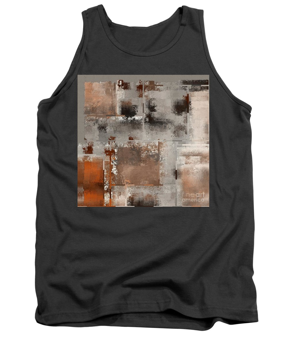 Abstract Tank Top featuring the digital art Industrial Abstract - 01t02 by Variance Collections