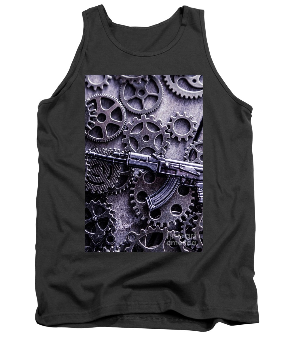 Tactical Tank Top featuring the photograph Industrial Firearms by Jorgo Photography - Wall Art Gallery