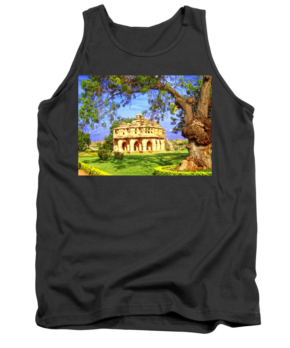 Infinite Moment Tank Top featuring the painting Infinite Moment by Dominic Piperata