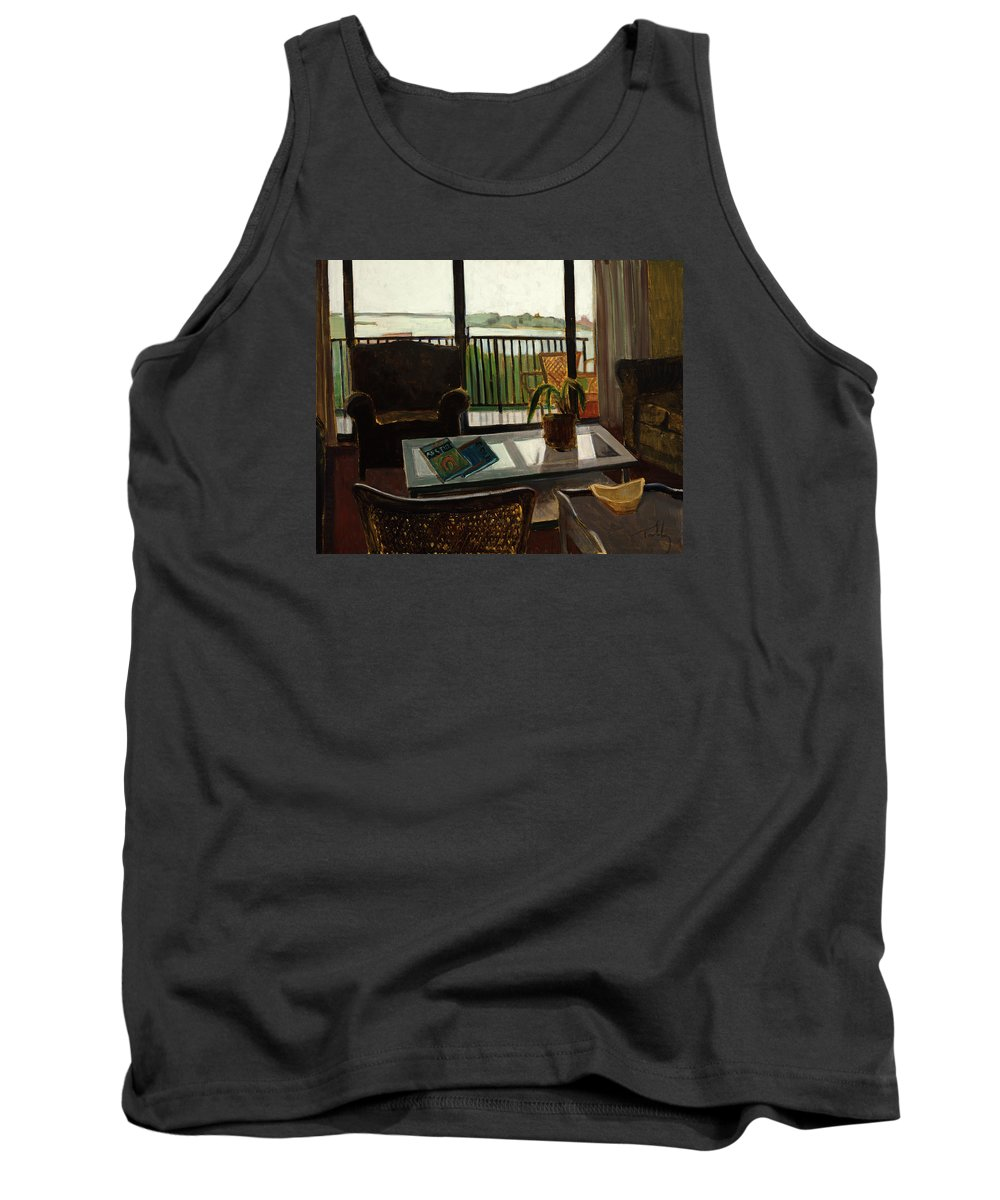 Interior Tank Top featuring the painting Interior by Thomas Tribby
