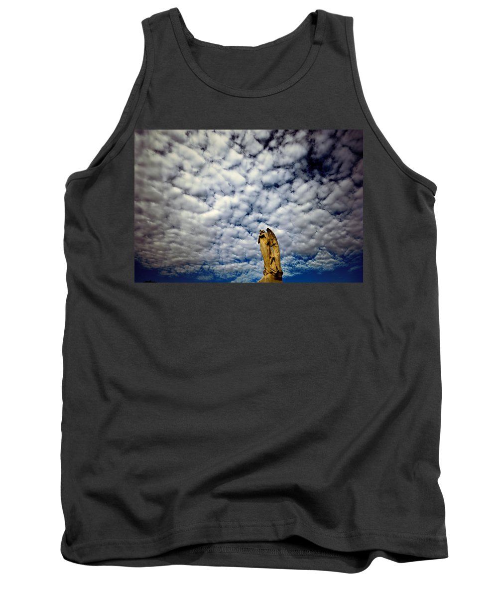 Angel Tank Top featuring the photograph Into The Firmanent by Wayne Sherriff