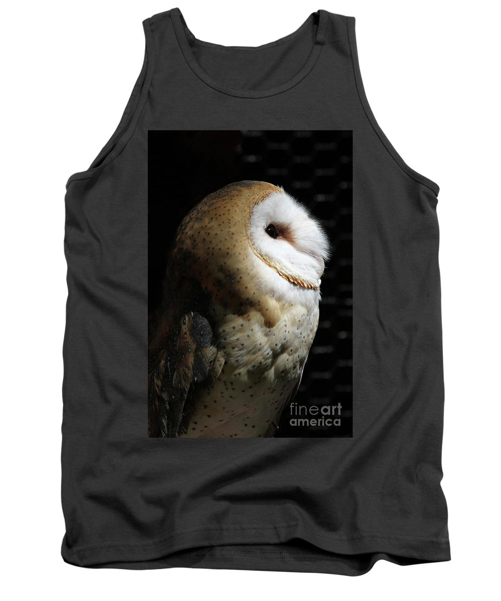 Barn Owl Tank Top featuring the photograph Into The Light #2 by Judy Whitton