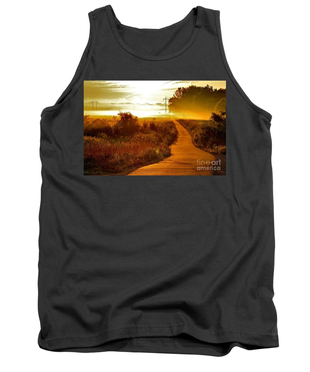 Landscape Tank Top featuring the photograph Into The Unknown by Robert Pearson