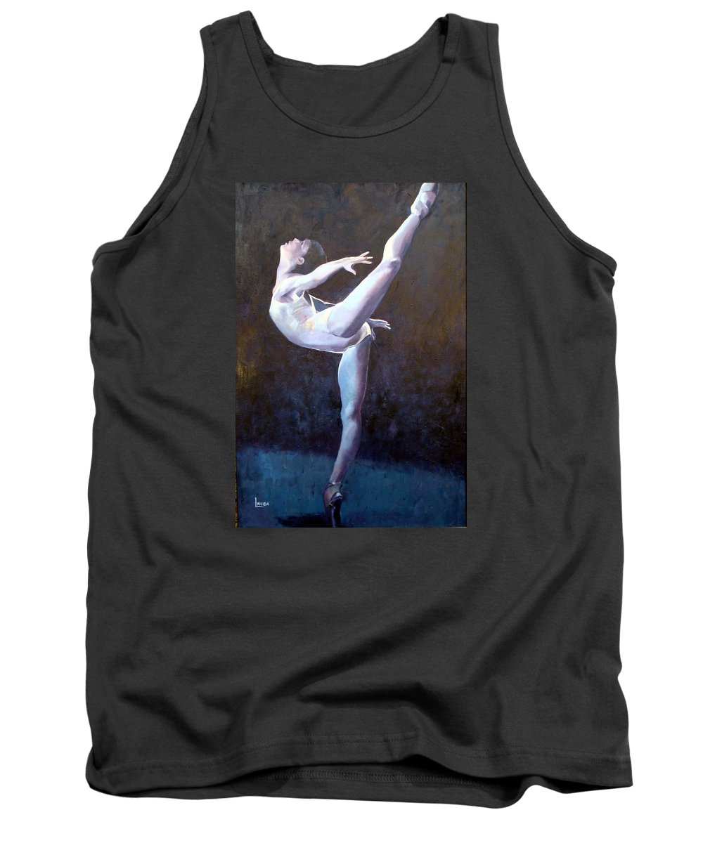 Ballerina Tank Top featuring the painting Introduction by Janet Lavida
