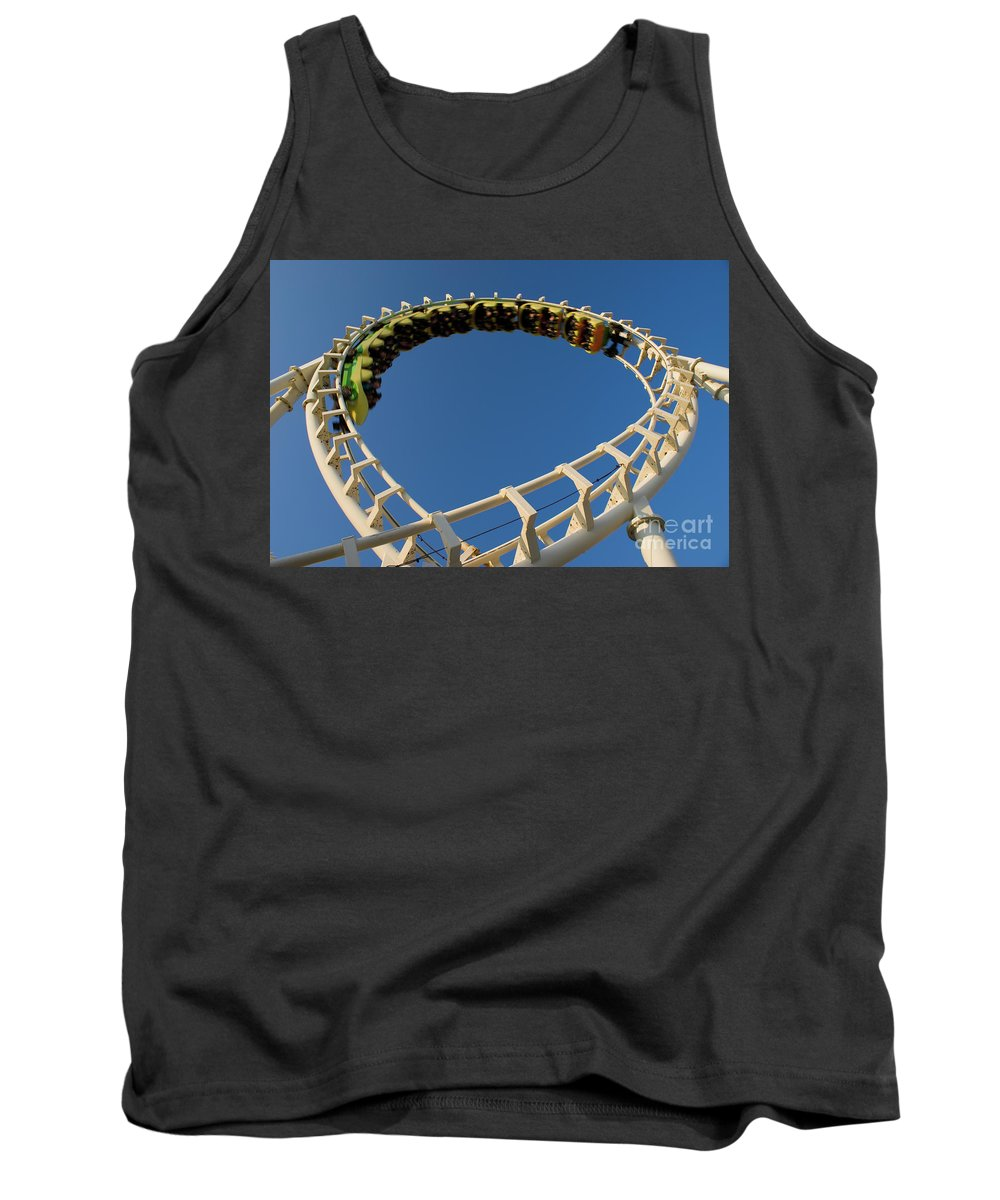 Fun Tank Top featuring the photograph Inverted Roller Coaster by Anthony Totah
