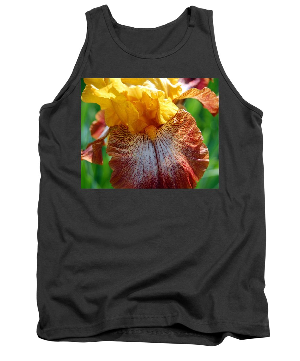 Iris Tank Top featuring the photograph Iris 2 by Amy Fose