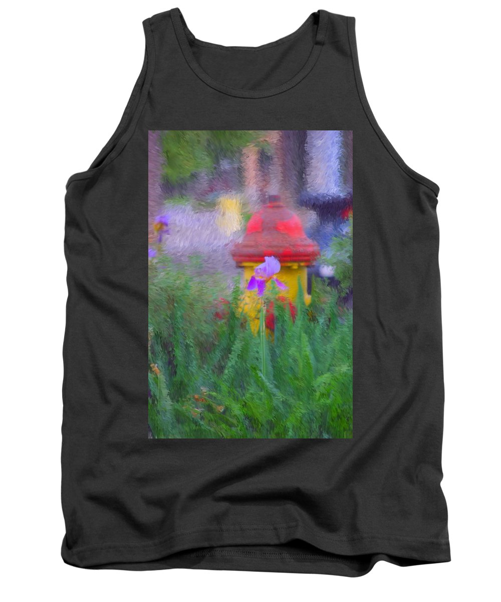 Digital Photo Tank Top featuring the photograph Iris And Fire Plug by David Lane