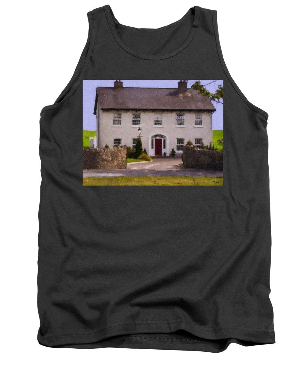 Ireland Tank Top featuring the painting Irish Country Estate Riverstown Ireland by Teresa Mucha