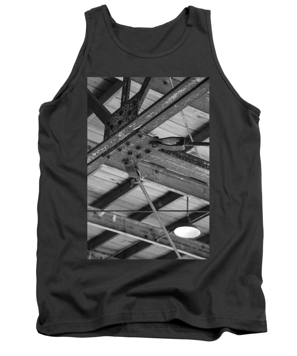 Black And White Tank Top featuring the photograph Iron Roof by Rob Hans
