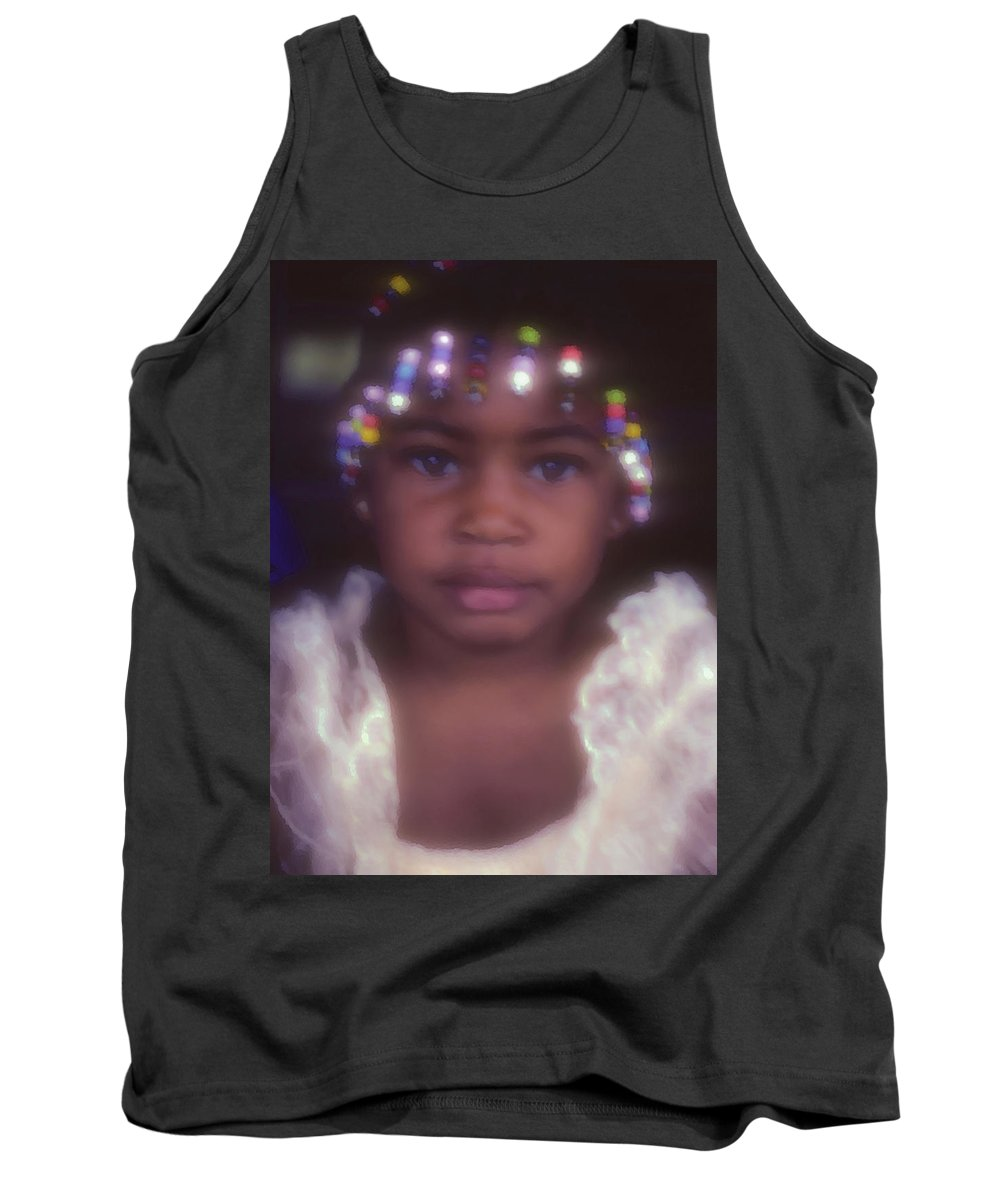 Girl Portraits Tank Top featuring the photograph Island Girl by Stephen Anderson