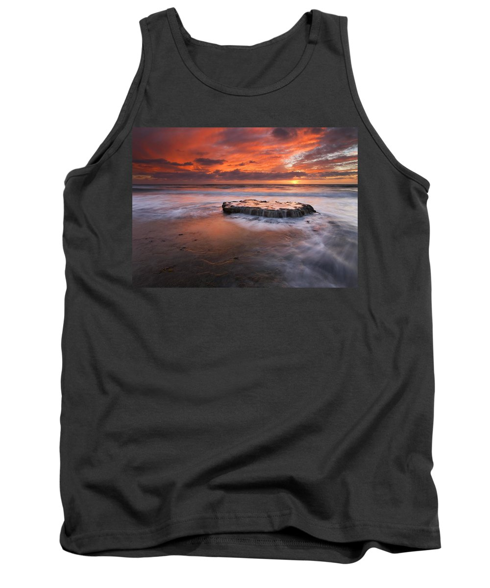 Island Tank Top featuring the photograph Island In The Storm by Mike Dawson