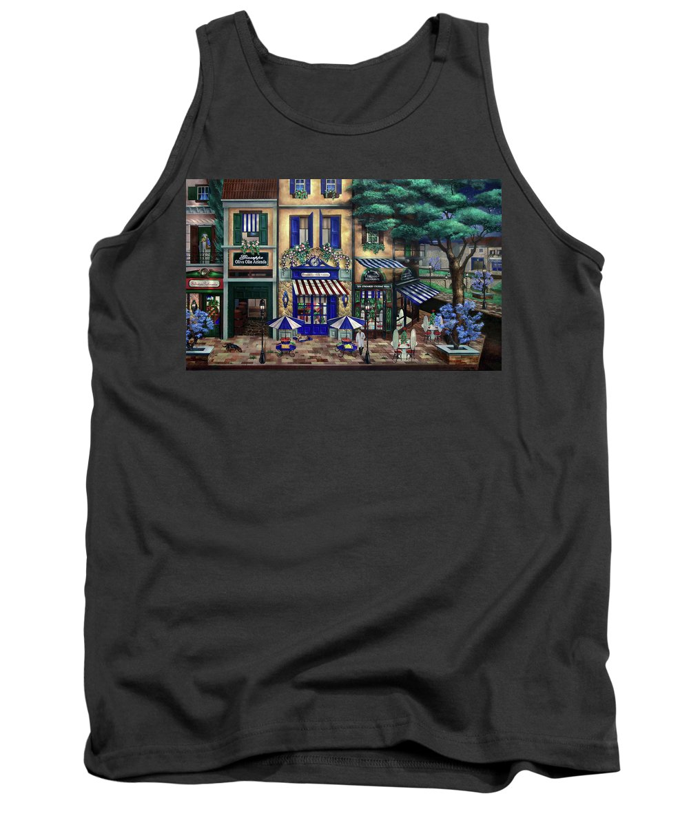 Italian Tank Top featuring the mixed media Italian Cafe by Curtiss Shaffer