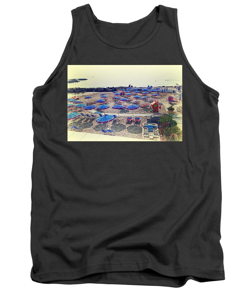 Italy Tank Top featuring the photograph Italy, Sanremo, The Beach. by Adriano Bussi