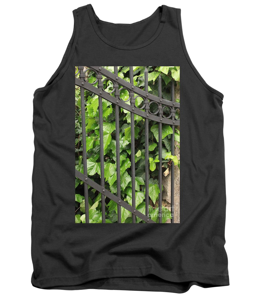 Ivy And Iron Gate Tank Top featuring the photograph Ivy And Gate by Carol Groenen