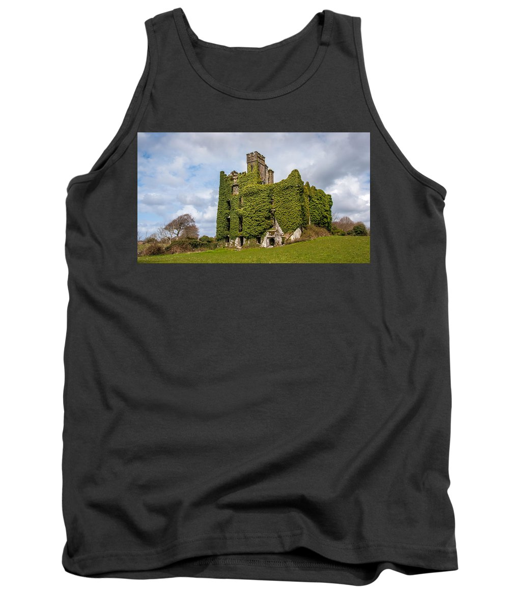 Ireland Tank Top featuring the photograph Ivy Covered Ruined Castle Ireland by Pierre Leclerc Photography