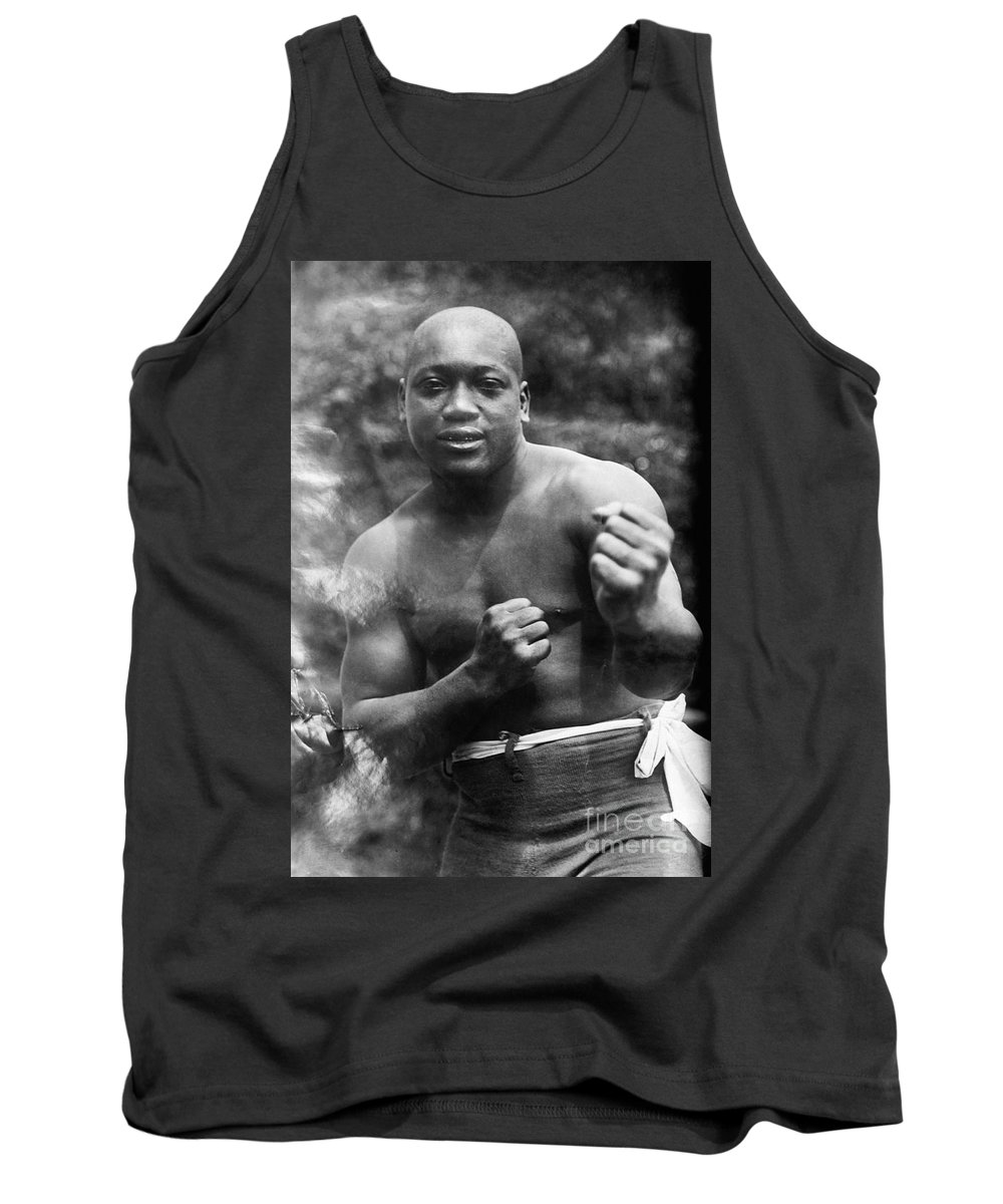 1910s Tank Top featuring the photograph Jack Johnson (1878-1946) by Granger
