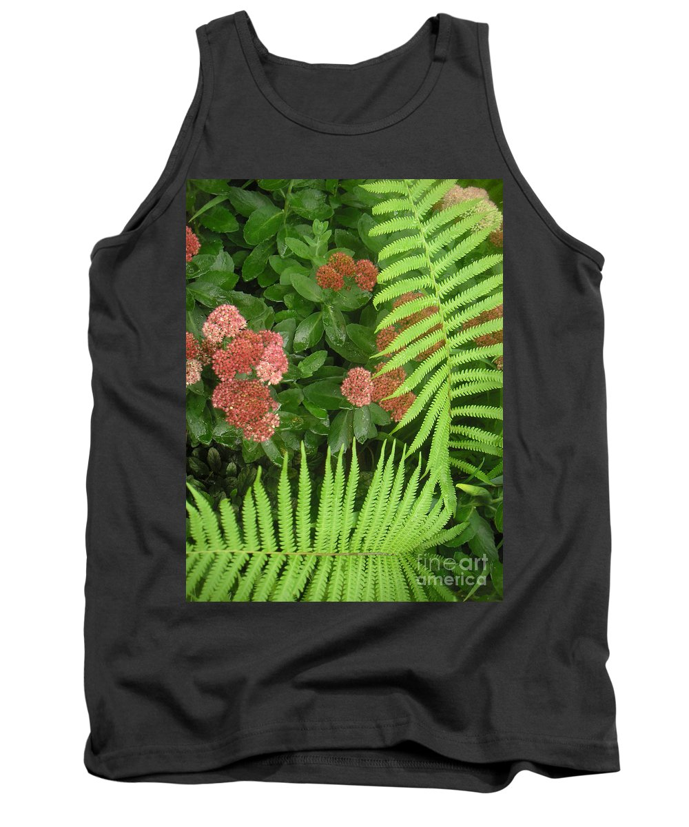 Nature Tank Top featuring the photograph Jacqueline's Garden - Camaraderie Of Textures Too by Lucyna A M Green